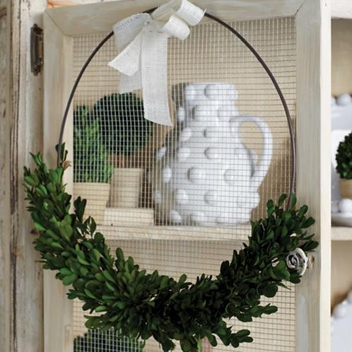 Boxwood Ring Wreath