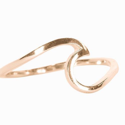 Pura Vida - Rose Gold Wave Ring