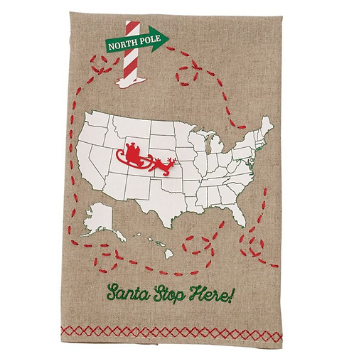 Santa Claus is Coming to Town Towel
