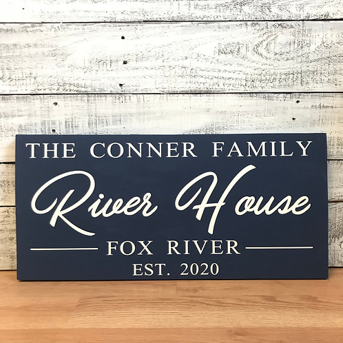 12x24 Last Name River House