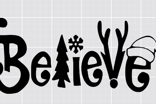 Believe 12x24 Sign Kit