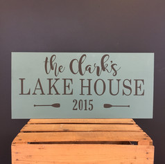 """12""""x24"""" Lake House or River House"""