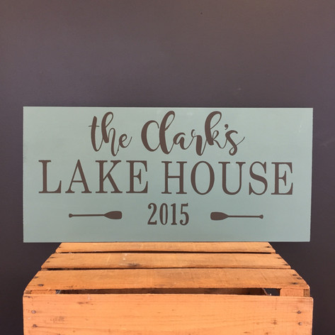 "12""x24"" Lake House or River House"