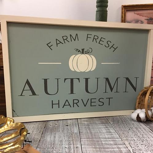 Farm Fresh Autumn Harvest - UNFRAMED  12x16 Sign Kit