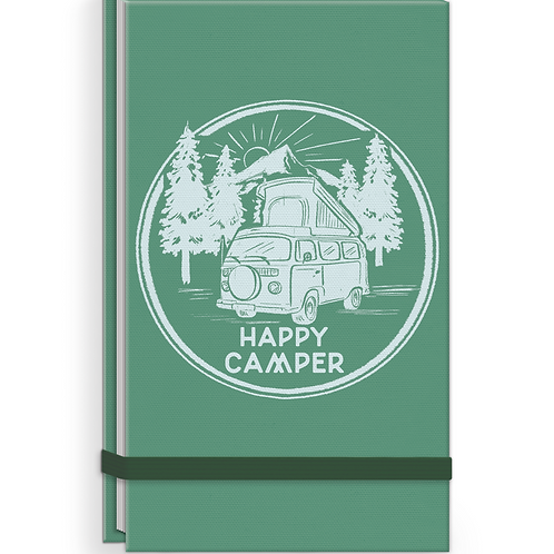 Linen Top Happy Camper Note Pad