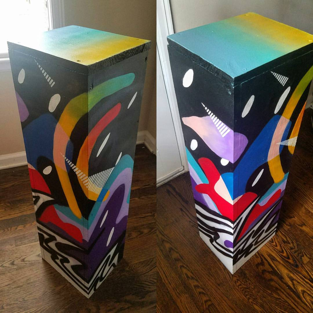"""Some Podium I Painted"""