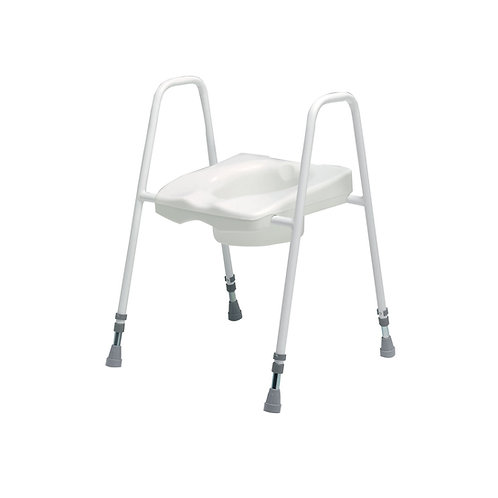 Lincoln plus height adjustable toilet seat and frame