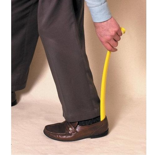 Long plastic shoehorn