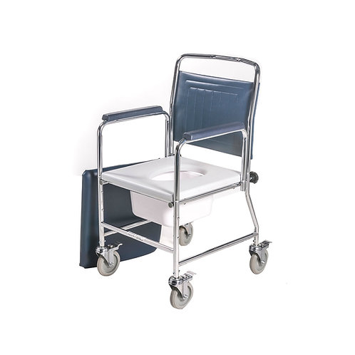 Mobile Commode with Detachabe backrest