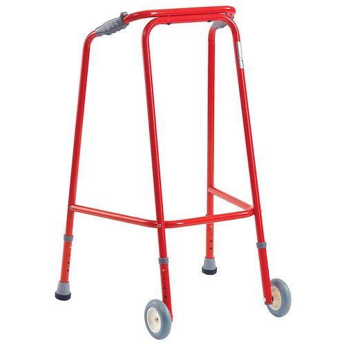 Red Walking Frame with wheels - Mobility aids
