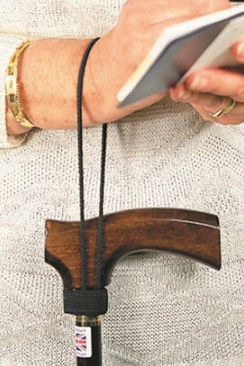 Cane/stick wrist strap