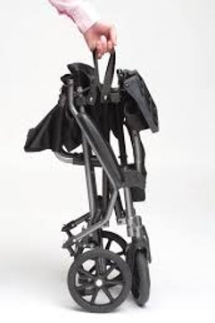 Ultra Lightweight Folding Travel Mobility Attendant Transit Wheelchair in a Bag