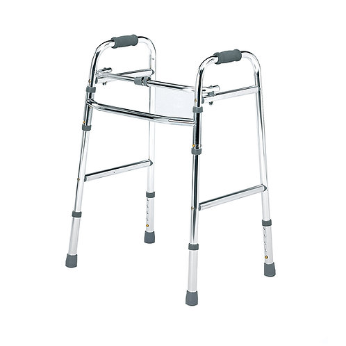 Folding lightweight walking frame