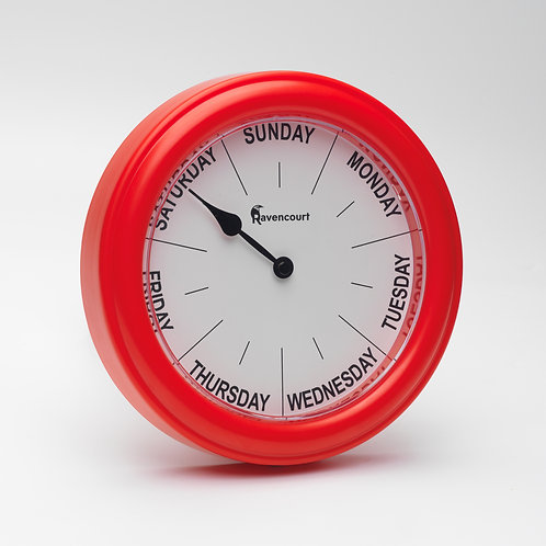 Red Day Clock