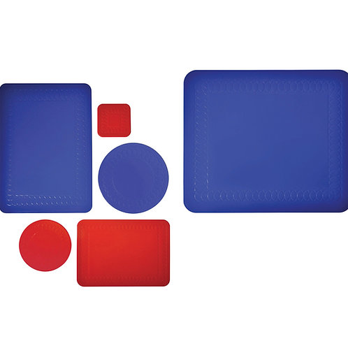 Anti-slip Mats Red/Blue