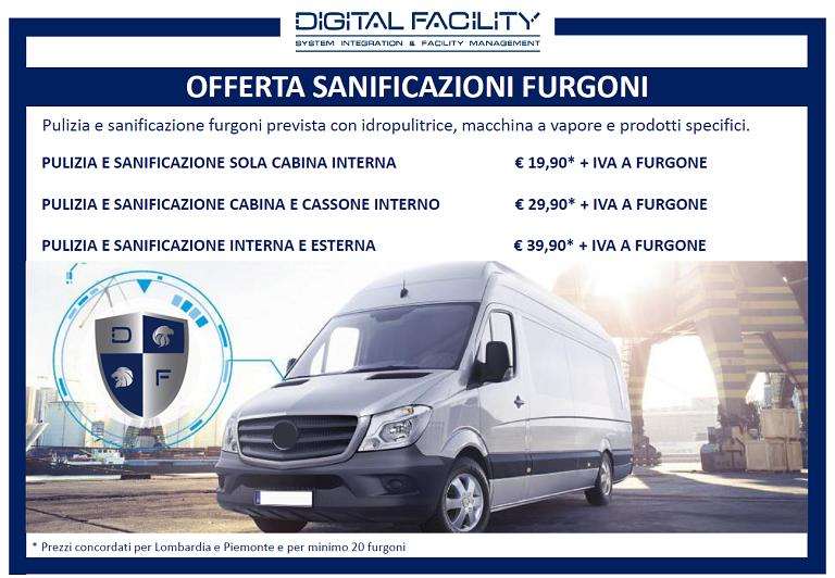 Sanificazione furgoni aziendali