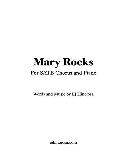Mary Rocks SATB