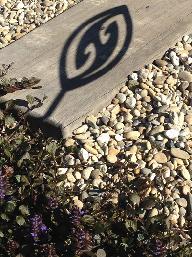 Shadow from our fish hook spear - available in rusty Corten or shiny Aluminium
