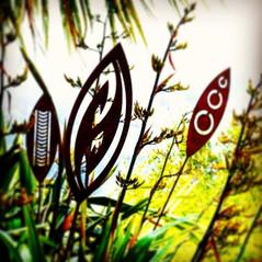 Corten Garden spears