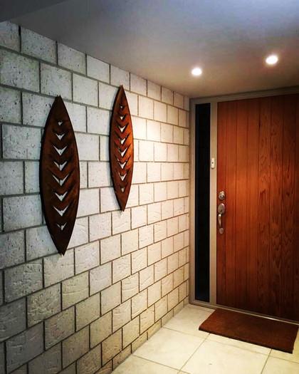 Corten Wall Art shields - Arrow design (both 900mm) $255 each