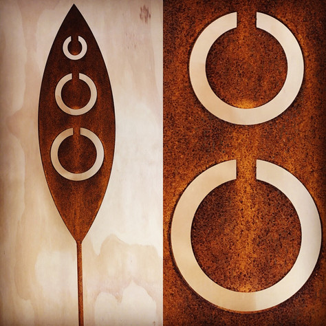 Corten Tribal Spear