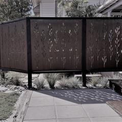 Korokio Screens - creating privacy & art in the garden