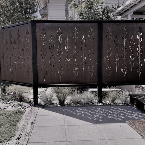 Korokio Screens - creating privacy & art in the garden
