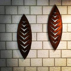 900mm Corten Arrow wall art