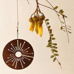 Corten Allium Spinning Art