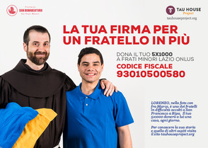 5x1000 a Frati Minori Lazio Onlus