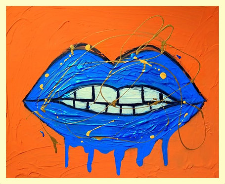 Drippy Lips Art Print