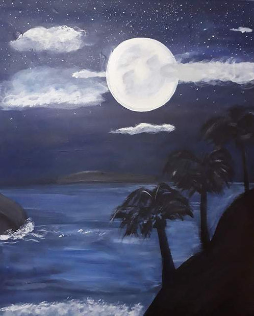 Beach Nights (Digital Art Print)