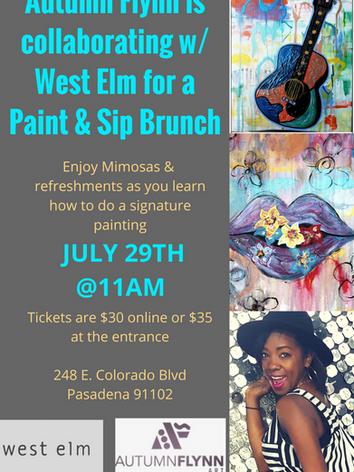 Paint & Sip West Elm Pasadena