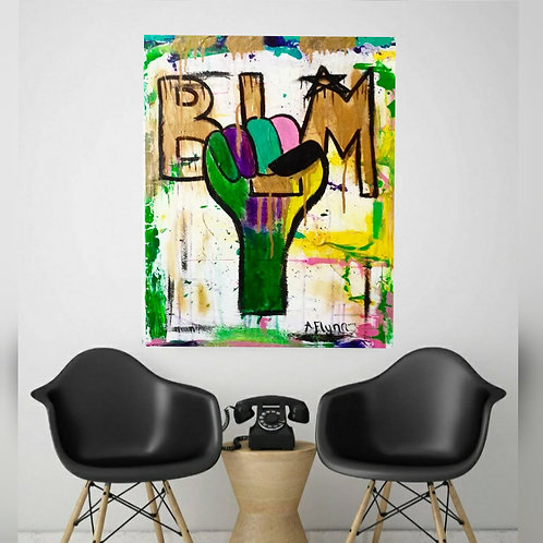 BLM Drippy Art Print