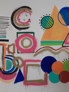 Abstract Frame Mural