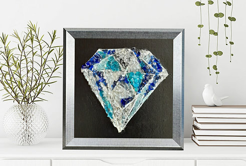 Diamond mosaic glass Art