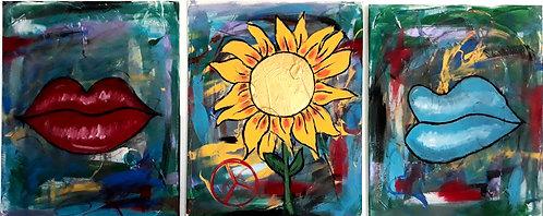Sunflower Kisses Art Prints