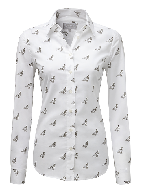 Schoffel Norfolk Shirt | Grey Ptarmigan