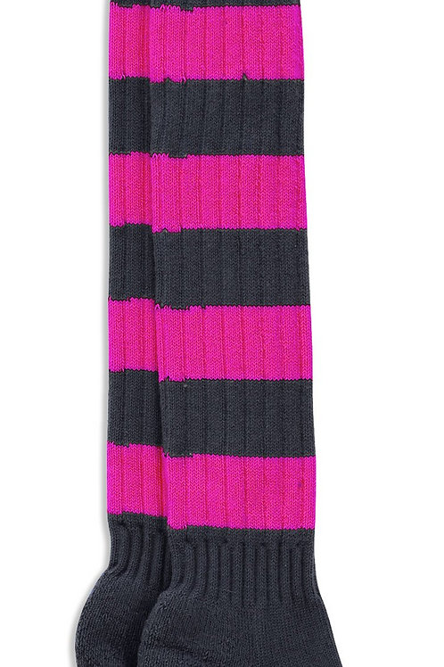 Sporting Hares Socks | Gunmetal & Rosé