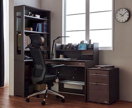 パソコンデスク 書斎デスク 机 書棚 ワゴン