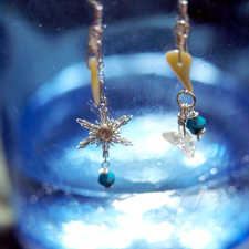 SNOW CRYSTAL w/ turquoise, pearl, crystal