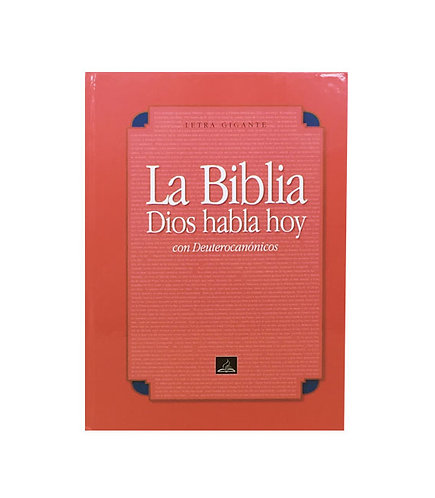 Biblia Dios Habla Hoy, Deutero,Letra Gigante