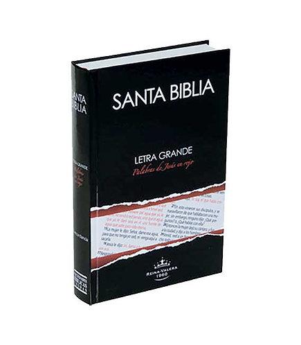 Biblia Letra Grande, Palabras de Jesús en rojo, tapa dura