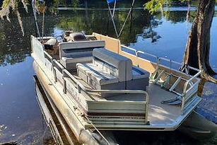 santa fe river florida pontoon boat rent