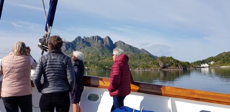 senior women friends sailing