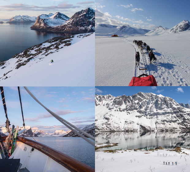ski and sail, ski og seil, lofoten, senja