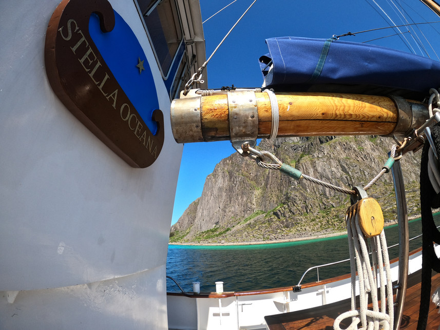 sailing yacht stella oceana liveaboard expedition ship in lofoten norway
