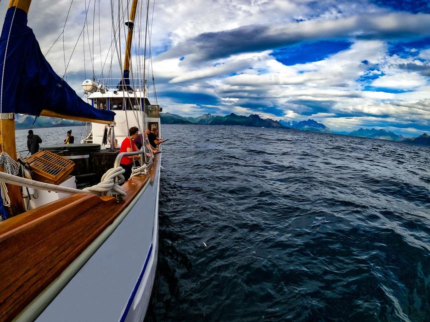 Fishing in Svolvær Lofoten - S/Y Stella Oceana - World Sea Explorers