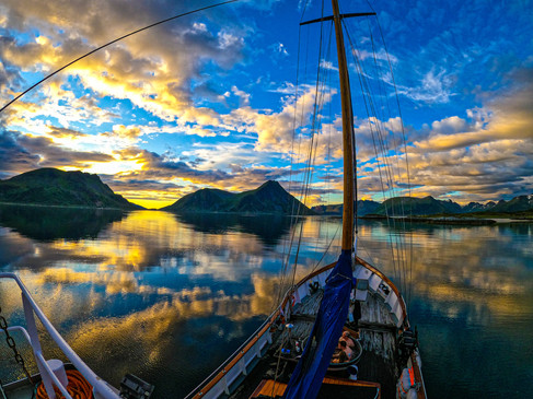 Anchored in the midnightsun