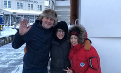Kenneth & Sachi with a guest in Tromso